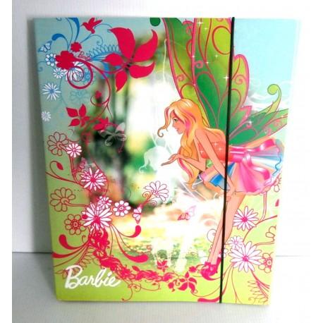 Pochette cartonnée à rabat souple enfant ados BARBIE 03 A4 Fourniture scolaire neuf