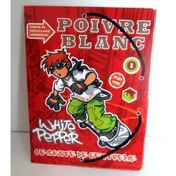 Chemise Pochette cartonnée à rabat souple enfant ados POIVRE BLANC 03 A4 Fourniture scolaire neuf