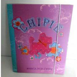 Chemise Pochette cartonnée à rabat souple enfant ados CHIPIE 04 A4 Fourniture scolaire neuf