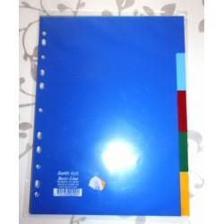 Lot de 5 Intercalaires en PVC format A4 couleurs Fourniture scolaire neuf