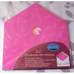 Lot de 20 doublures enveloppes 162 x 114 couleur rose naissance faire part anniversaire loisirs créatifs