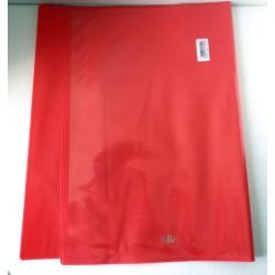 ELBA Lot de 2 protèges cahiers format A4 couleur rouge transparent personnalisable Fourniture scolaire neuf