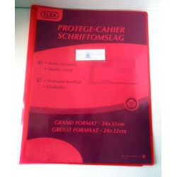 ELBA Protèges cahiers format A4 couleur rouge transparent haute résistance Fourniture scolaire neuf