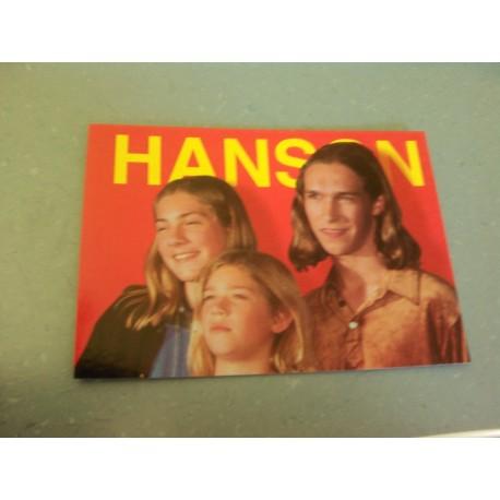 Carte Postale de Star - Groupe Hanson - Horizontale