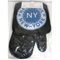 SET 2 PIÈCES GANT DE CUISINE ET MANIQUE NEW YORK LOT 06 100% COTON NEUF