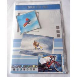 Carte postale double avec enveloppe fête des pères bonne fête papa sport extrème neuve