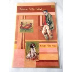 Carte postale avec enveloppe fête des pères bonne fête papa chasseur neuve
