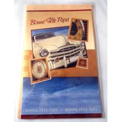 Carte postale avec enveloppe fête des pères bonne fête papa collection voiture neuve