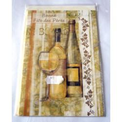 Carte postale avec enveloppe bonne fête des pères vignoble neuve