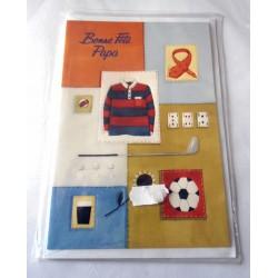 Carte postale neuve avec enveloppe fête des pères bonne fête papa neuve