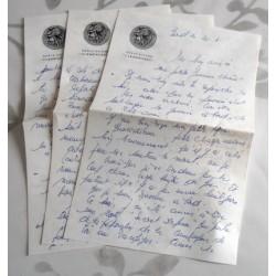 """ANCIENNE LETTRE D'AMOUR POINÇON PORTE AVION CLEMENCEAU """" le 20.04.1967"""