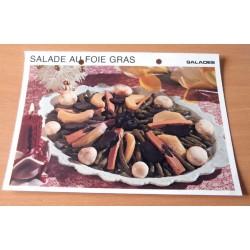 """FICHE CUISINE vintage rétro la bonne cuisine salades """" salade au foie gras """""""