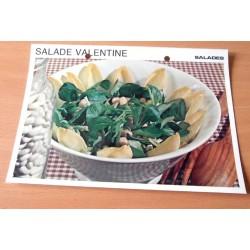 """FICHE CUISINE vintage rétro la bonne cuisine salades """" salade valentine """""""