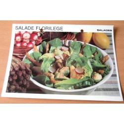 """FICHE CUISINE vintage rétro la bonne cuisine salades """" salade florilège """""""