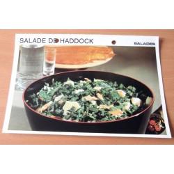 """FICHE CUISINE vintage rétro la bonne cuisine salades """" salade de haddock """""""