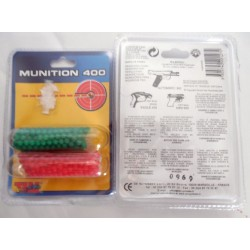 Lot de 400 billes pistolet plastique couleur verte/rouge automatic eagle mini