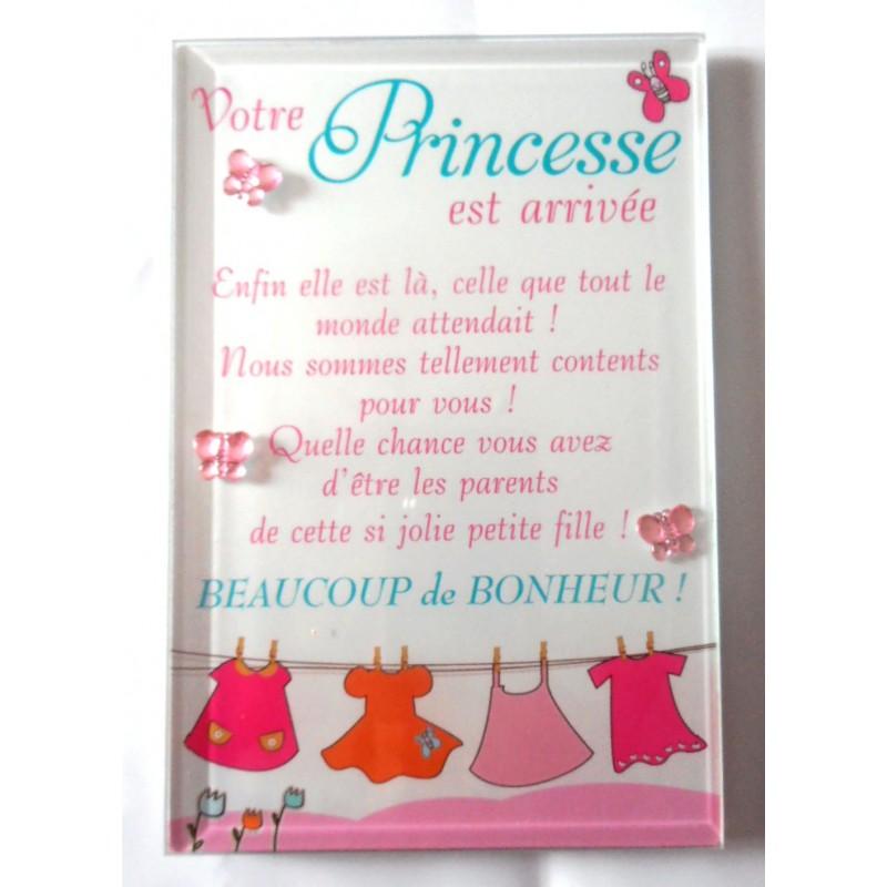 naissance petit cadre d co a poser votre princesse est arriv e. Black Bedroom Furniture Sets. Home Design Ideas