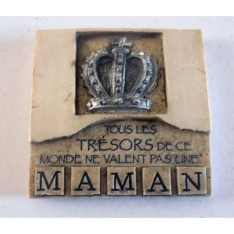 MAGNET DÉCO RELIEF 3 D 7 X 7 CM RÉSINE MAMAN ... NEUF IDÉES CADEAUX COLLECTION