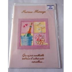 Carte postale double avec enveloppe mariage anniversaire félicitation sur calque neuve