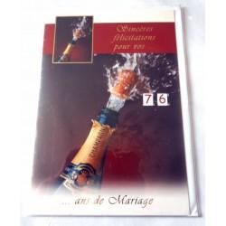 Carte postale double avec enveloppe anniversaire mariage multi ages félicitations neuve