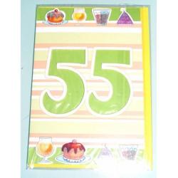 Carte postale neuve fête joyeux anniversaire 55 ans (lot 01)