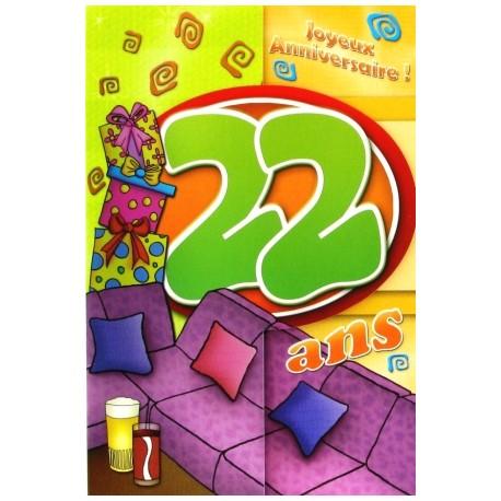 Carte Postale Neuve Fête Joyeux Anniversaire 22 Ans Lot 02 Amzalan Com