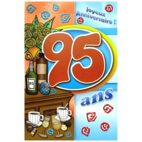 Carte postale neuve fête joyeux anniversaire 95 ans (lot 04)