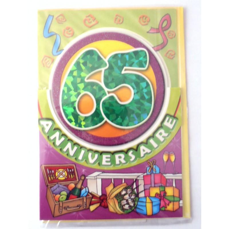 Carte Postale Neuve Fete Joyeux Anniversaire 65 Ans Lot 03 02 Amzalan Com