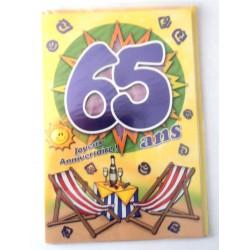 Carte postale neuve fête joyeux anniversaire 65 ans (lot 03) 03