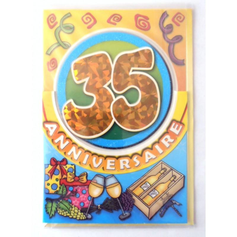 Carte Postale Neuve Fete Joyeux Anniversaire 35 Ans Lot 05