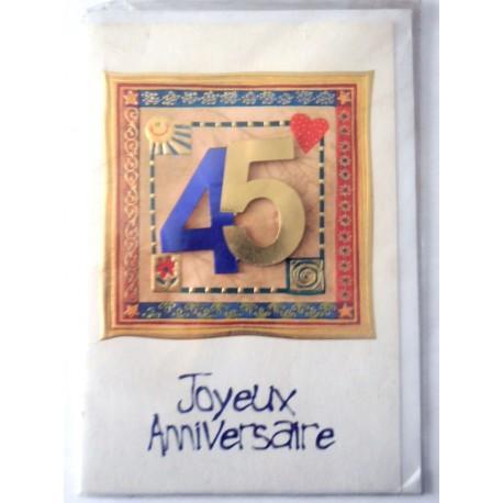 Carte postale neuve fête joyeux anniversaire 45 ans (lot 06) 02