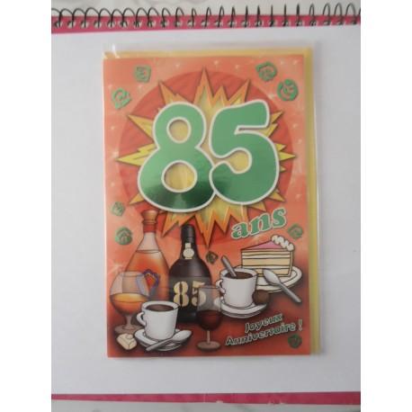 Carte postale neuve fête joyeux anniversaire 85 ans (lot 07)