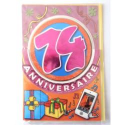 Carte postale neuve fête joyeux anniversaire 14 ans (lot 08)