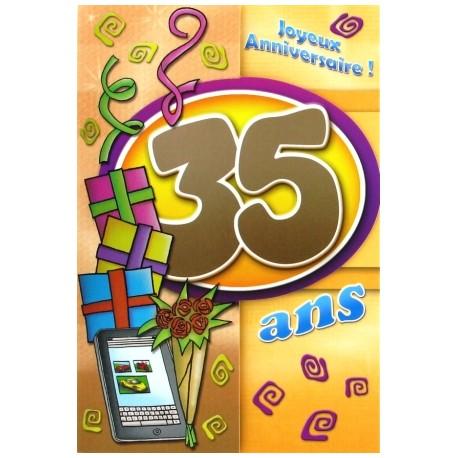Carte postale neuve fête joyeux anniversaire 35 ans (lot 05) 02