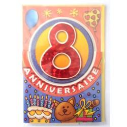 Carte postale neuve fête joyeux anniversaire 8 ans (lot 09)