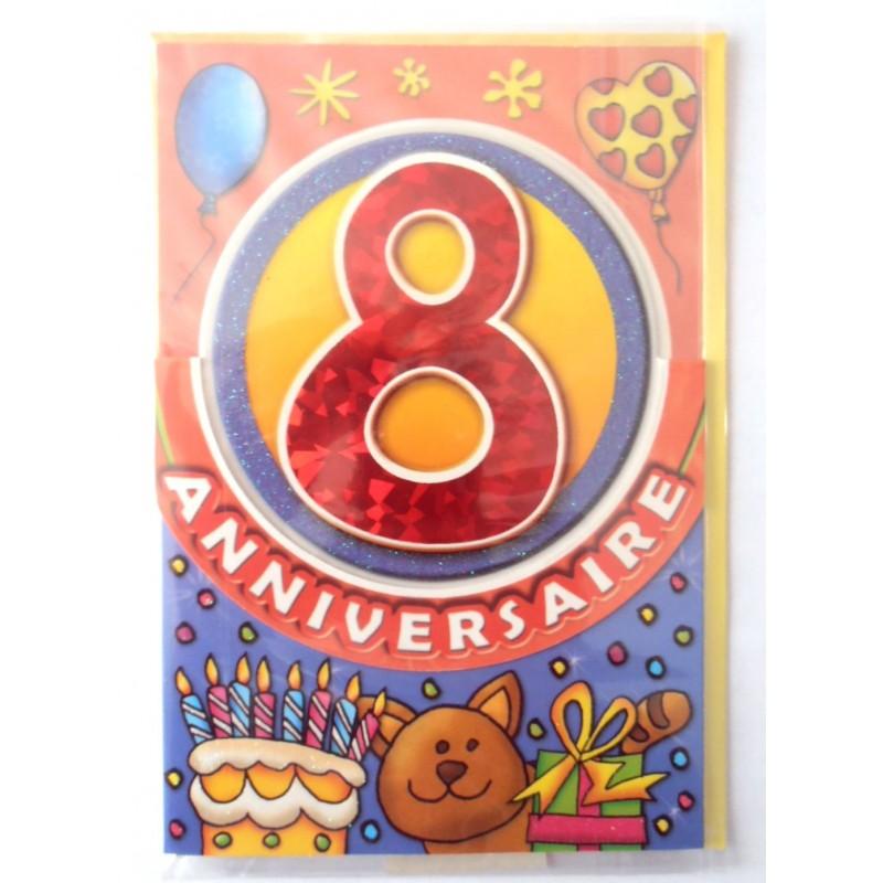 carte postale neuve fte joyeux anniversaire 8 ans lot 09 - Joyeux Anniversaire 8 Ans
