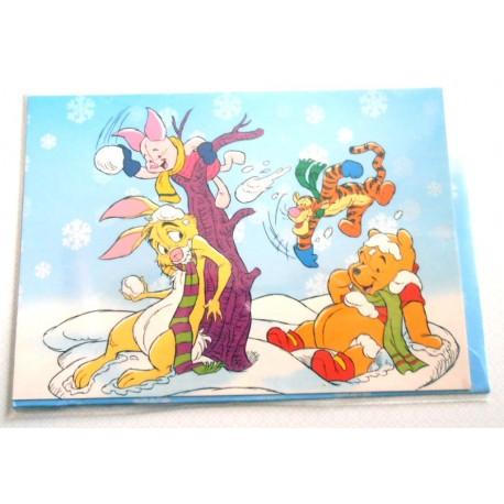 Carte postale neuves avec enveloppe fête anniversaire enfant Disney Winnie l'ourson Mickey (lot 36)