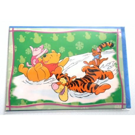 Carte postale neuves avec enveloppe fête anniversaire enfant Disney Winnie l'ourson Mickey (lot 38)
