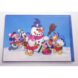 Carte postale neuves avec enveloppe fête anniversaire enfant Disney Winnie l'ourson Mickey (lot 48)