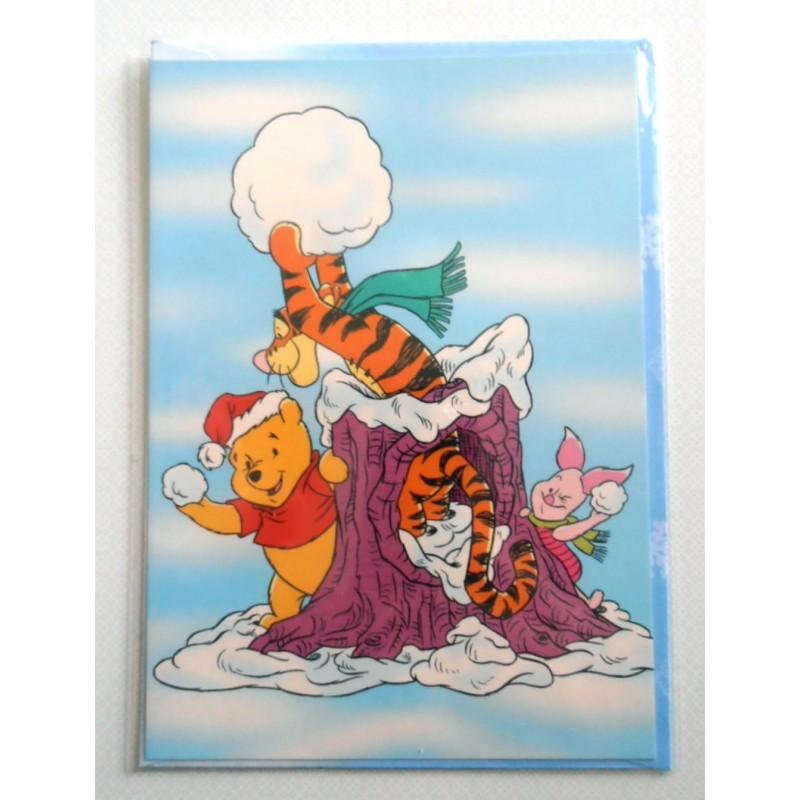 Carte postale neuves avec enveloppe fête anniversaire enfant Disney Winnie l'ourson Mickey (lot ...
