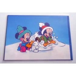 Carte postale neuves avec enveloppe fête anniversaire enfant Disney Winnie l'ourson Mickey (lot 50)