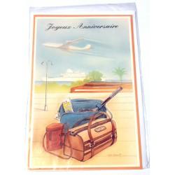 Carte postale neuve avec enveloppe joyeux anniversaire ( lot 17)