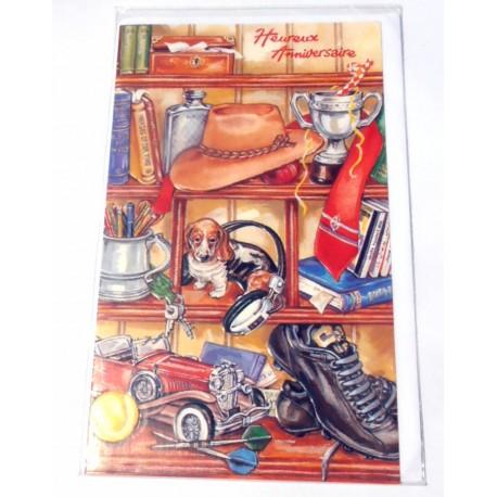 Carte postale neuve avec enveloppe joyeux anniversaire ( lot 19.01)