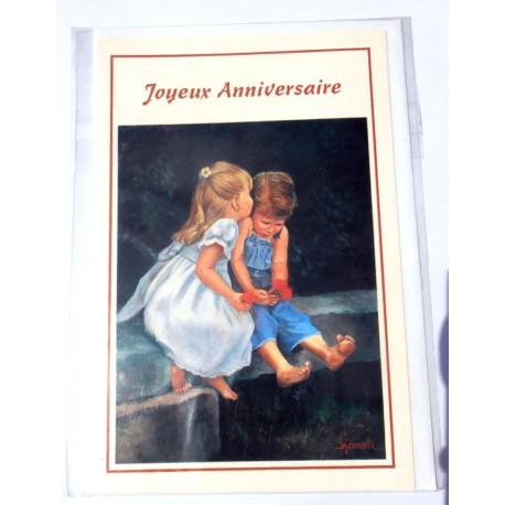 Carte postale neuve avec enveloppe joyeux anniversaire ( lot 21.05)