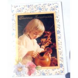 Carte postale neuve avec enveloppe joyeux anniversaire ( lot 22.02)