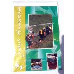 Carte postale neuve avec enveloppe joyeux anniversaire ( lot 23.01)