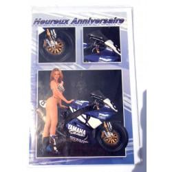 Carte postale neuve avec enveloppe joyeux anniversaire ( lot 25.05)