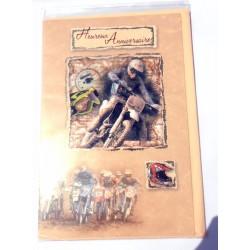 Carte postale neuve avec enveloppe joyeux anniversaire (25.06)