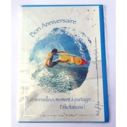 Carte postale neuve avec enveloppe joyeux anniversaire ( lot 25.09)