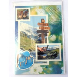 Carte postale neuve avec enveloppe joyeux anniversaire (25.10)